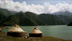 Seriously, I just want to hang out in a yurt by a pristine lake with some nomads... This is in Western China (Tian Chi).