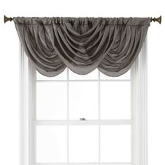 Royal Velvet® Britton Tab-Top Waterfall Valance - JCPenney