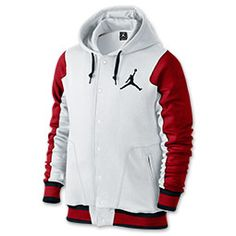 Men's Jordan Varsity 2.0 Hoodie | FinishLine.com | White/Gym Red/Black