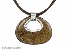 """Sterling Silver traces this teardrop Bronzite Pendant on a Leather Necklace for everyday amazing. 18"""" with a 2"""" Extender."""