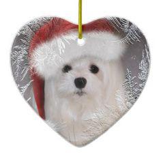 Maltese Christmas Ornament In Santa Hat Maltese Dogs e65d000f7