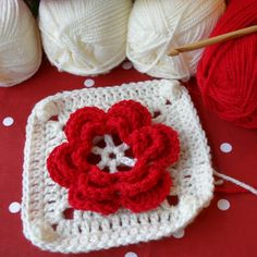 My latest project: Ruby Rosanna Cot Blanket. A cute flower cot blanket in red and cream using my Rosanna crochet pattern. Cot Blankets, Blanket Crochet, Crochet Projects, Crochet Patterns, Kid Quilts, Crochet Pattern, Crochet Tutorials, Crocheting Patterns, Crochet Stitches Patterns