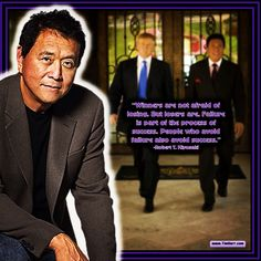 """Winners are not afraid of losing. But losers are. Failure is part of the process of success. People who avoid failure also avoid success."" -Robert T. Kiyosaki (US Author 1947-) #QuoteOfTheDay"