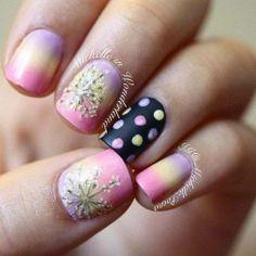 Spring nail art ^^