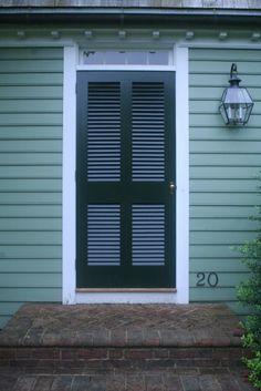 Louvered exterior door