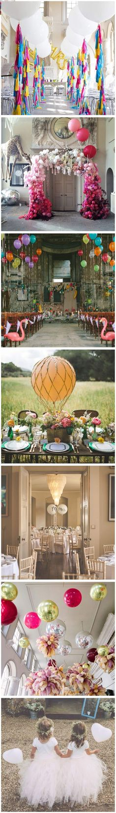 We're obsessed with wedding balloons as the perfect flourish to your wedding decor. Think balloon statement ceilings and canopies, confetti balloons for flower girls, balloon centrepieces, aisle decoration, wedding favours, balloon arches and portrait props. There's so many ways to use wedding balloons! #balloons #weddingdecor #weddingballoons