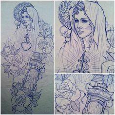 Religious design #virginmary