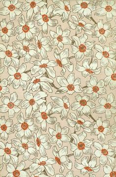 Daffodil endpaper Travels through Asia with the Children 1898 Cute Backgrounds, Cute Wallpapers, Wallpaper Backgrounds, Aesthetic Iphone Wallpaper, Aesthetic Wallpapers, Textures Patterns, Print Patterns, Motif Vintage, Vintage Floral Patterns