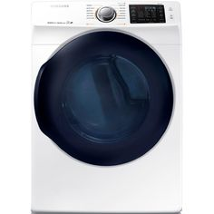 Samsung 7.5-cu ft Stackable Electric Dryer with Steam Cycles (White) ENERGY STAR