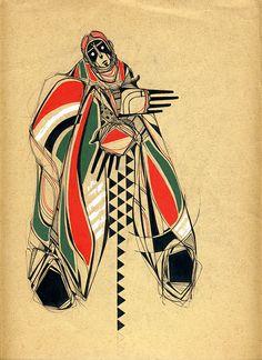 reminiscent of northwest native art, love it.