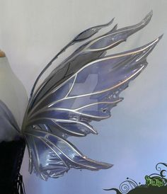 Midnight Azarelle Wings Side by FaeryAzarelle on DeviantArt Black Fairy Wings, Diy Fairy Wings, Fairy Wings Drawing, Butterfly Fairy, Butterfly Wings, Faerie Costume, Fairy Clothes, Wings Design, Fairy Princesses