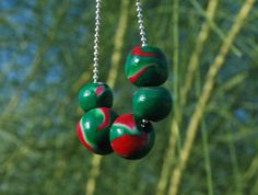 Watermelon pendant by Hybridary on Etsy, Watermelon, My Etsy Shop, Christmas Ornaments, Pendant, Holiday Decor, Unique Jewelry, Handmade Gifts, Vintage, Kid Craft Gifts