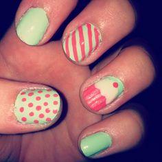 My cupcake nails!
