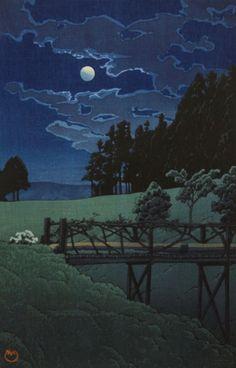 Kawase Hasui (1883-1957): Ashinoko no yukuji