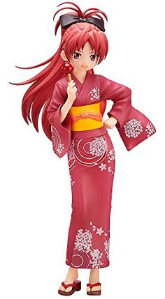 FREEing Puella Magi Madoka Magica Kyouko Sakura Yukata Version PVC Figure ** Click image to review more details.