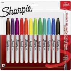 Marker Pen, Permanent Marker, School Art Supplies, Office Supplies, Paint Pens, Paint Markers, Sharpie Colors, Writing Correction, Sharpie Markers