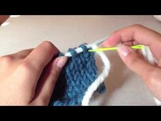 Costura invisible dos agujas (kitchener stitch en español) - YouTube