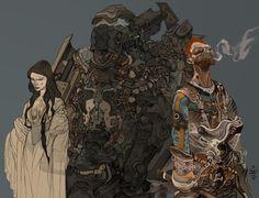 The Dark, Cyberpunk And Fantasy Paintings Of Jakub Rebelka – Design You Trust Arte Sci Fi, Sci Fi Art, Sci Fi Kunst, Comic Kunst, Comic Art, Art And Illustration, Fantasy Kunst, Fantasy Art, Character Concept
