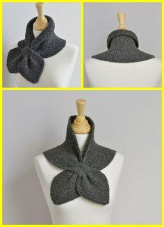 Knit Garter Stitch Miss Marple Scarf Free Pattern