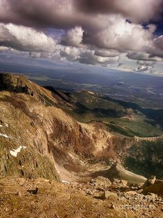 Pikes Peak looking down- hoping to retire near there