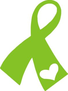 Charity Support Ribbon with Heart - Vinyl Decal Sticker
