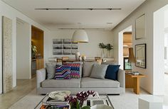 Colorful-throw-pillows-on-the-plush-couch-enliven-the-living-room