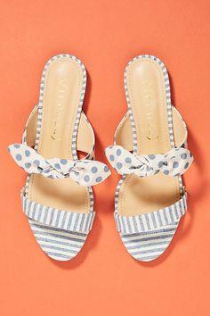 Bow + stripes sandals