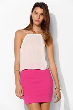 Silence + Noise Ponte Knit Bodycon Mini Skirt from Urban Outfitters on Catalog Spree