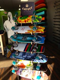 Carver skateboards are more fun than spanking a hippopotamus.  Did he say 'potamus'?  http://www.neverboredinc.com/balance-boards-ri-neverbored-summer-balance-boards/