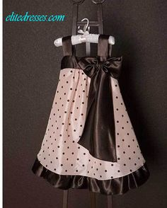 Girl's Sleeveless Brown and Pink...