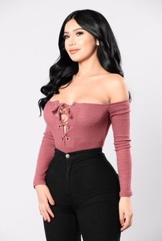 I'll Be Seeing You Bodysuit - Red Brown
