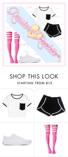 """""""Russian Roulette"""" by my-style-xo ❤ liked on Polyvore featuring WithChic, Vans, Leg Avenue, contest, kpop, contestentry, redvelvet and russianroulette"""
