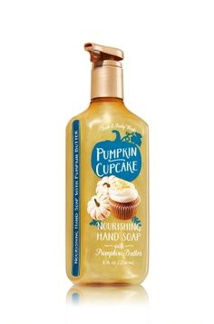 Pumpkin Cupcake - Nourishing Pumpkin Butter Hand Soap - Bath & Body Works - Nourish with fall's best ingredient! Our NEW Nourishing Hand Soap is infused with pumpkin butter to moisturize hands while gently cleansing. It's the perfect way to keep hands soft, clean and beautifully scented, all season long!