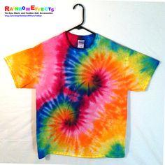 Tie Dye TShir t Double Rainbow Spiral  by RainbowEffectsTieDye, $12.50