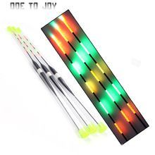 Fishing Float LED Electric Float Light + Battery Deep Water Float Fishing Tackle 3pcs Bobber Fishing Gear With electrons #FishingGearAndAccessories