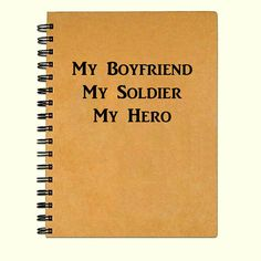 Kraft paper Military family journal or notebook. Journal is 5x7 and can be made with either white or lined pages, please specify at checkout. 75