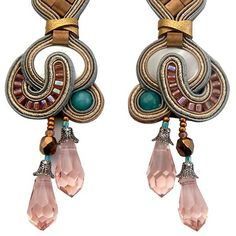 Looking up close at Dori's Muse earrings #DoriCsengeri #earringsbyDori #pastels