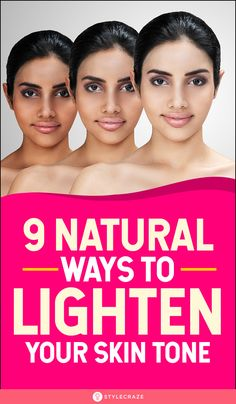 9 Natural Ways To Lighten Your Skin Tone: We have put together home remedies that can help you achieve the perfect skin tone and leave your skin looking healthy and nourished. Read on to know how to use these different remedies. Lighten Skin Tone, Lighten Skin Naturally, Dark Skin Tone, Even Skin Tone, Dusky Skin, Natural Skin Whitening, Whitening Face, Face Skin Care, Perfect Skin