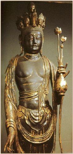 Late 8th C. Juichimen Kannon 11-Headed. Kaniman-ji Temple Japan