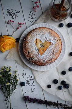Mini Blueberry and Lavender Cake. This elegant and easy cake is rich for its size but sure to delight! Homemade Cake Recipes, Cupcake Recipes, Dessert Recipes, Baking Recipes, Mini Cakes, Cupcake Cakes, Lavender Cake, Gourmet Cakes, Caramel Frosting