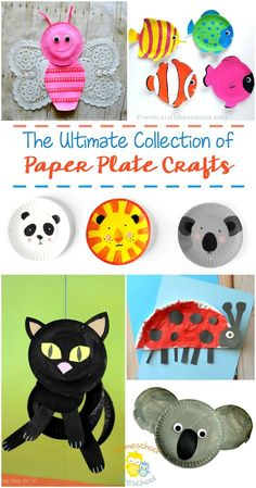 Getting ready for a crafting session with your little ones? Got a bunch of paper plates sitting in your pantry? We've got a whole lot of ideas for paper plate crafts to kick start your imagination and get you crafting. | http://homeschoolpreschool.net