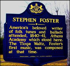 marker in Athens, PA Athens History, Stephen Foster, York Pennsylvania, Historical Sites, Museums, The Fosters, Growing Up, Markers, Southern