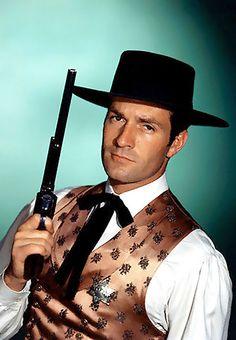 1955 … Wyatt Earp tv series The Life and Legend of Wyatt Earp…. Tv Westerns, Old Tv Shows, Movies And Tv Shows, Hugh O'brian, Wyatt Earp, Vintage Television, Radios, Vintage Tv, Vintage Clothing