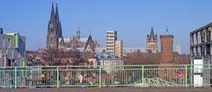 Kölner Dom von der Severinsbrücke
