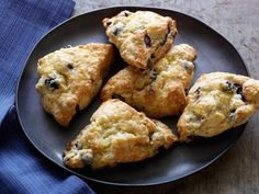 Get Blueberry Scones with Lemon Glaze Recipe from Food Network