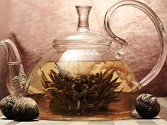 Blossoming tea by Cataline on DeviantArt Tea Wallpaper, Glass Teapot, Beverages, Drinks, Cocktails, Flower Tea, Tea Party, Grass, Tea Cups