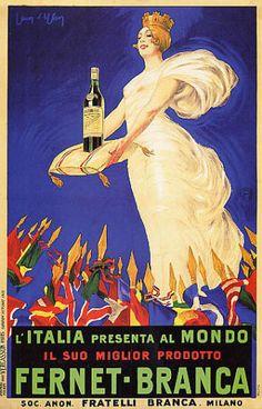ITALY-FERNET-BRANCA-QUEEN-WINE-MILANO-ITALIAN-BEST-DRINK-VINTAGE-POSTER-REPRO