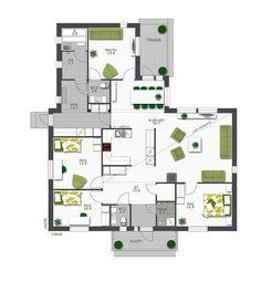 Ihastuttava pohjaratkaisu - All you need is White Sweet Home, Floor Plans, Flooring, How To Plan, Apartments, Future, Home Decor, Modern Houses, Trendy Tree