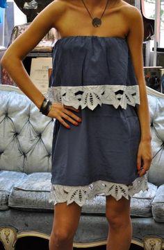 Judith March Blue Strapless Dress http://dianawarnerstudio.com/