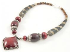Diva Red Pote Necklace from Nepal. #Jewelry #freeshipping# #fairtrade